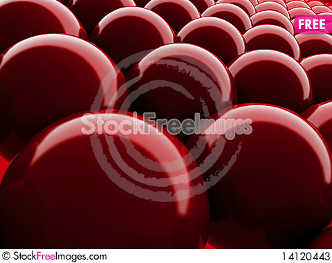 Free Red Bubble Background Stock Photos - 14120443