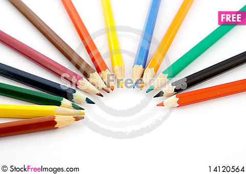 Free Colored Pencils Stock Images - 14120564