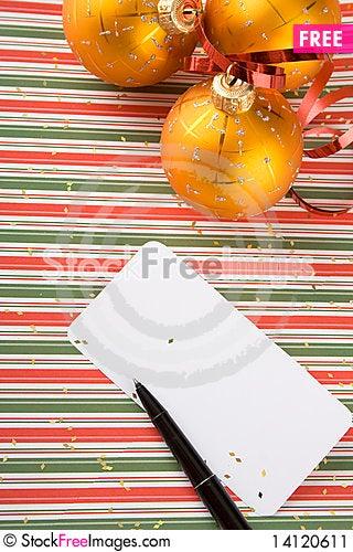 Free Christmas Card Stock Image - 14120611