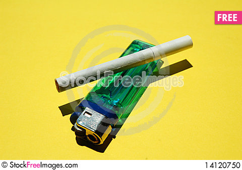 Free Cigarette And Ligther Stock Photo - 14120750