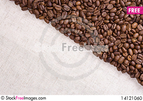 Free Beans As Triangle With Textile Stock Photo - 14121060