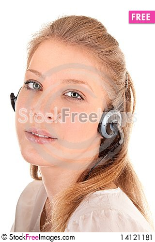 Free Young Girl With A Headphones Stock Image - 14121181