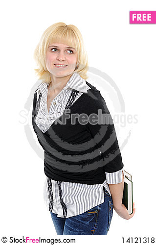 Free Young Girl With Book Royalty Free Stock Photos - 14121318