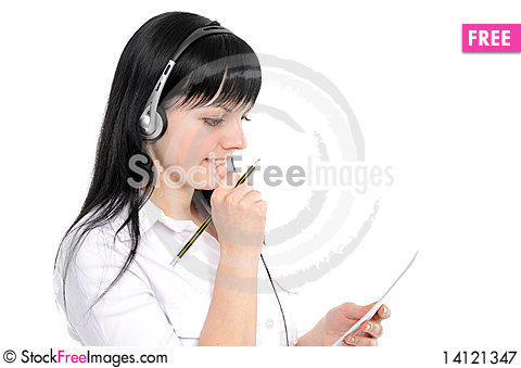 Free Service Representative In Headset Royalty Free Stock Photography - 14121347
