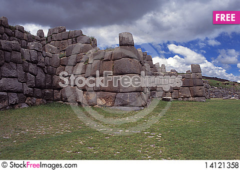 Free Sacsayhuaman Walls, Cuzco, Peru. Royalty Free Stock Photos - 14121358