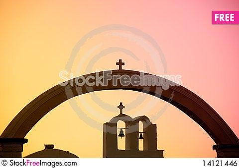 Free Greek Church Royalty Free Stock Image - 14121446