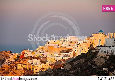 Free Santorini Island Royalty Free Stock Photos - 14121458