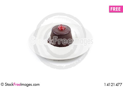 Free Piece Of Chocolate Cake Royalty Free Stock Photography - 14121477