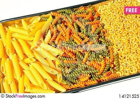 Free Pasta On A Tray Royalty Free Stock Photo - 14121525