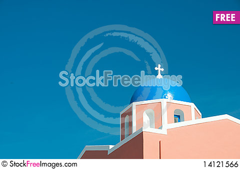 Free Greek Church Royalty Free Stock Image - 14121566