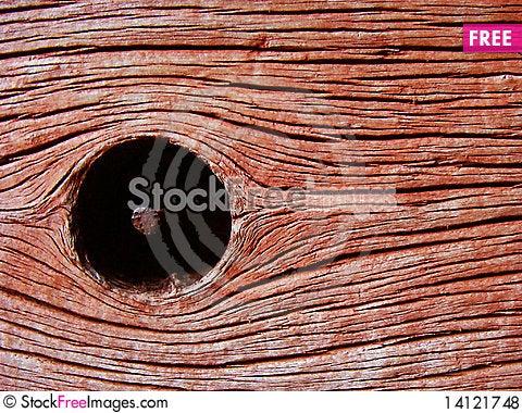 Free Wood Node With Nail Royalty Free Stock Photos - 14121748