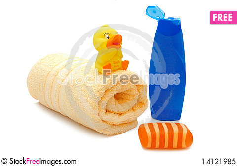 Free Set For Washing In The Bathroom Royalty Free Stock Photo - 14121985