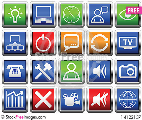 Free Buttons Royalty Free Stock Photography - 14122137