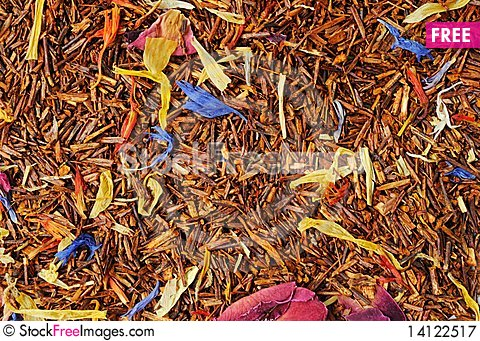 Free Roibush Tea With A Flowers Royalty Free Stock Photography - 14122517