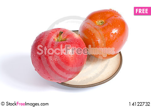 Free Tomato And Apple Stock Photography - 14122732