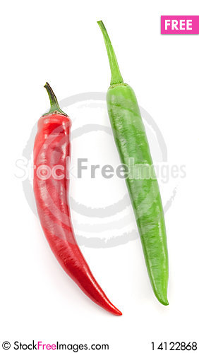 Free Green And Red Chili Peppers Royalty Free Stock Photos - 14122868