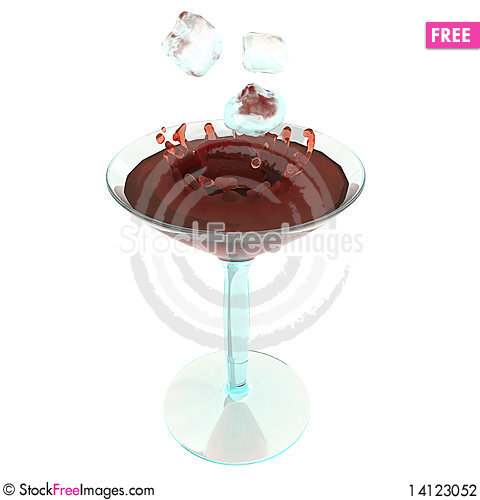 Free Color Cocktaile In Wineglass Stock Photography - 14123052