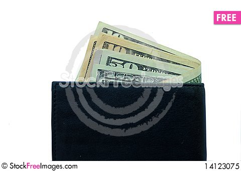 Free Wallet With Dollars Royalty Free Stock Photo - 14123075