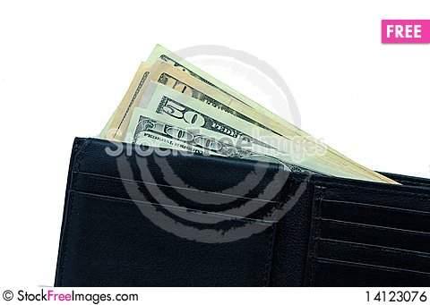 Free Wallet With Dollars Royalty Free Stock Image - 14123076