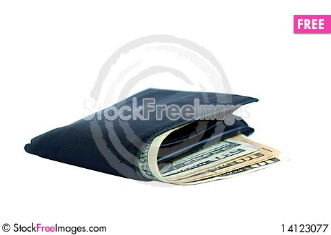 Free Wallet With Dollars Royalty Free Stock Photography - 14123077
