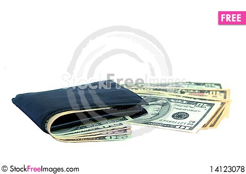 Free Wallet With Dollars Royalty Free Stock Photos - 14123078