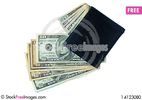 Free Wallet With Dollars Stock Photo - 14123080