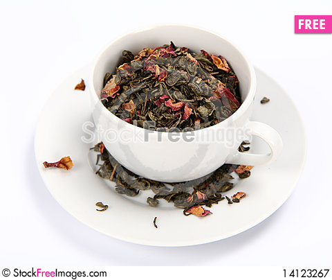 Free Green Tea Leaves Royalty Free Stock Photography - 14123267