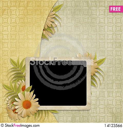 Free Card For The Holiday  With Flowers Royalty Free Stock Image - 14123566