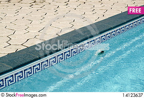 Free Border Between Pool And A Lawn Royalty Free Stock Photography - 14123637
