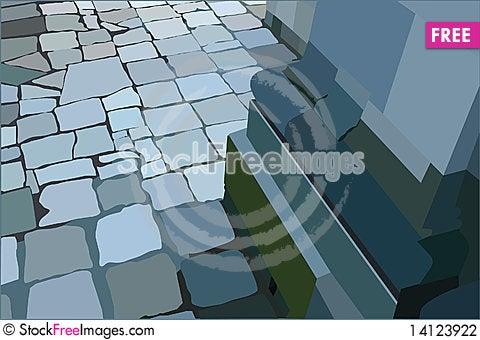 Free Rectangular Part Of Column Stock Photography - 14123922
