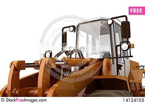 Bulldozer on wheels Stock Photo