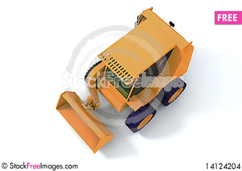 Free Bulldozer On Wheels Stock Images - 14124204