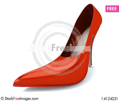 Free Red Women S Shoe Stock Image - 14124231