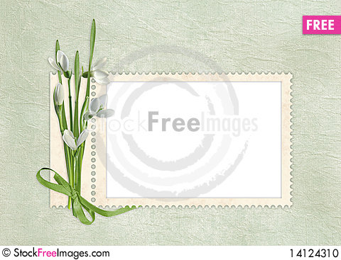 Free Card For The Holiday  With Flowers Stock Photo - 14124310