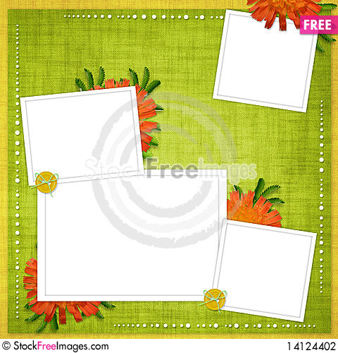 Free Card For The Holiday  With Flowers Stock Photography - 14124402