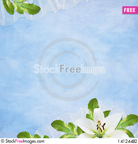 Free Card For The Holiday  With Flowers Stock Photography - 14124482