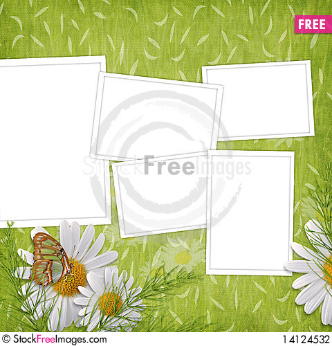 Free Card For The Holiday  With Flowers Stock Photography - 14124532