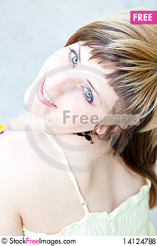 Free Young Woman Portrait Royalty Free Stock Photos - 14124788