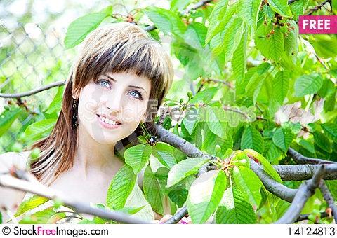 Free Beautiful Girl Between The Trees Stock Photos - 14124813