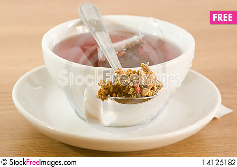 Free Tea And Cereals Stock Photography - 14125182