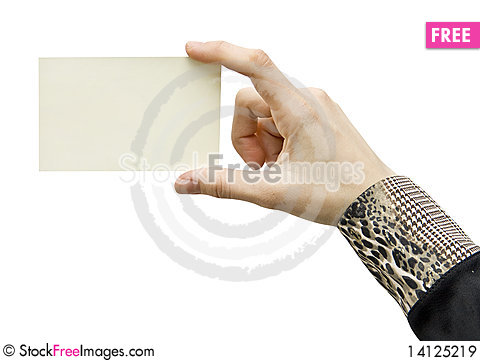 Free Card Blank Royalty Free Stock Images - 14125219