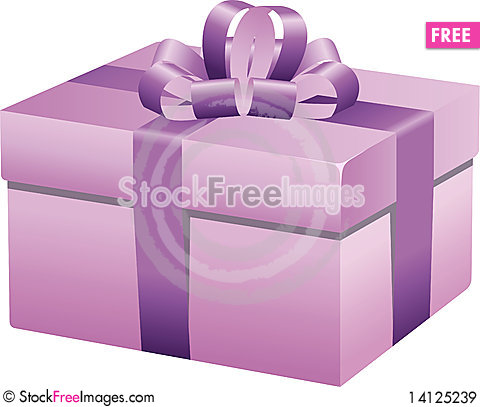 Free Pink Gift Box Royalty Free Stock Images - 14125239