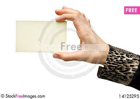 Free Card Royalty Free Stock Photo - 14125295