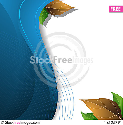 Free Blue Abstract Floral Background Stock Image - 14125791