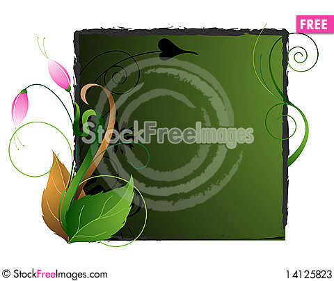 Free Emerald Floral Background Stock Photos - 14125823