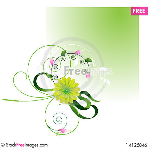 Free Green Frame With Bright Wildflowers Royalty Free Stock Image - 14125846