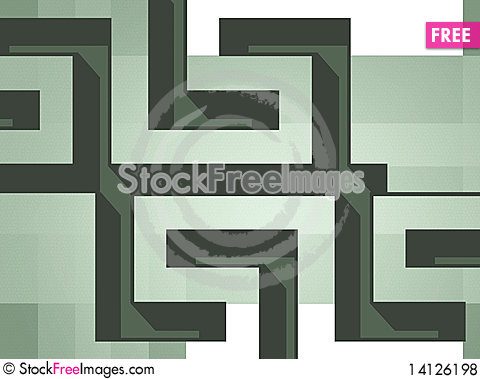 Free Meander Background Royalty Free Stock Photos - 14126198