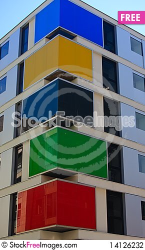 Free Multicolour Apartment Building Stock Photography - 14126232