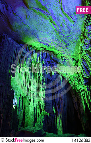 Free Reed Flute Cave Guilin Guangxi China Stock Photos - 14126383