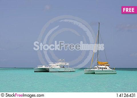 Free Catamaran In Saona Beach Stock Image - 14126431